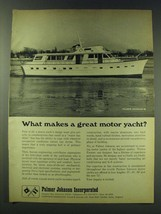 1970 Palmer Johnson 80 Yacht Ad - What makes a great motor yacht? - $14.99