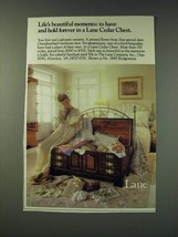 1987 Lane Cedar Chest Ad - Life's beautiful moments: to have and hold forever  - $14.99