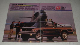 1988 Dodge Dakota 4x4 Pickup Truck Ad - It's gotta be a Dodge - $14.99