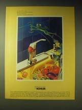 1989 Kohler Coralais Washerless Faucet Ad -  The Faucet and the Frog - $14.99