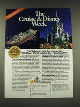 1989 Premier Cruise Lines Ad - The Cruise & Disney Week - $14.99