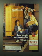 1988 Winston Cigarettes Ad - Real friends. Real people want real taste - $14.99