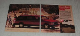1989 Dodge Grand Caravan Ad - Add to your recreation room - $14.99