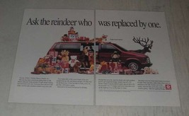 1989 Dodge Grand Caravan Ad - Ask the reindeer who was replaced by one - $14.99