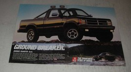 1989 Dodge Dakota 4x4 Pickup Truck Ad - Ground breaker - $14.99