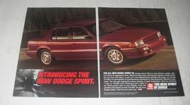 1989 Dodge Spirit ES Car Ad - $14.99