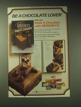 1989 Hershey's Chocolate Ad - Be a chocolate lover - $14.99