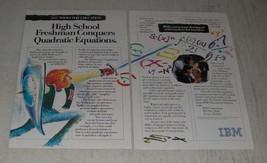 1989 IBM PS/2 Computers Ad - High School Freshman Conquers Quadratic Equations - $14.99