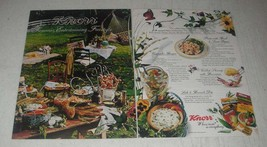 1989 Knorr Soup Mix Ad - Pasta with Basil & Sweet Peppers - $14.99