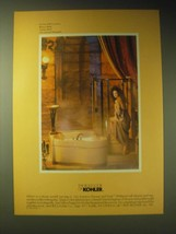 1989 Kohler Aventura Shower and Soak Ad - Rebecca Blake - $14.99