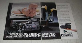 1989 Panasonic VHS-C Compact Camcorder Ad - Before you buy - $14.99
