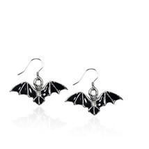 Bat Charm Earrings in Silver #532S-ER - $413,25 MXN