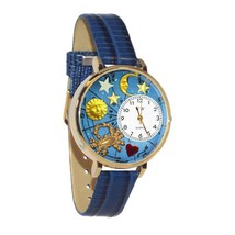 Cancer Whimsical Watch in Gold (Large) #G-1810004 - $39.94
