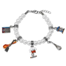 Chef Beaded Charm Bracelet In Silver Whimsical Gifts #1405S-BR - $29.95