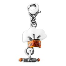 Chef Hat Charm Dangle In Silver #2666S - $9.77