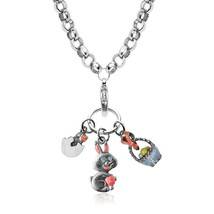 Easter Charm Necklace In Silver #1303S-NL - $24.99