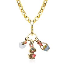 Easter Charm Necklace In Gold #1303G-NL - $24.99