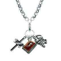 Religious Charm Necklace in Silver #1600S-NL - $24.99