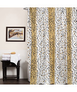 "Polyester Fabric Shower Curtain 70""x72"" Hailey Animal Print Beige - $14.39"