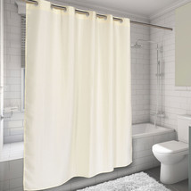 "EZ On Hookless Fabric Shower Curtain Waffle Weave 70""x75"" Ivory - $31.04"