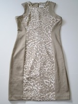 Calvin Klein Sleeveless Dress, Light Brown / Animal Printed, Sz. 12 - $58.91