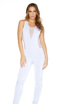 Forplay Don't Jump To Illusions Sleeveless Jumpsuit w/ Sheer Mesh Detail - $47.99