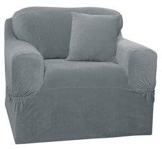 Maytex Collin 1-Piece Chair Stretch Slipcover - Blue - $39.95