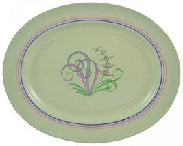 Vintage Retro Serving Porcelain PLATTER Green S... - $39.59