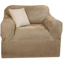 Maytex Suede 1-Piece Chair Slipcover -- Tan - $39.95