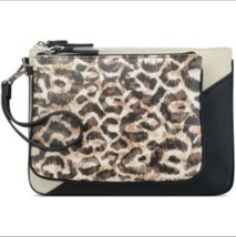 New Nine West Table Treasures Duo Pouch Set Bags Travel Animal Print - $32.79
