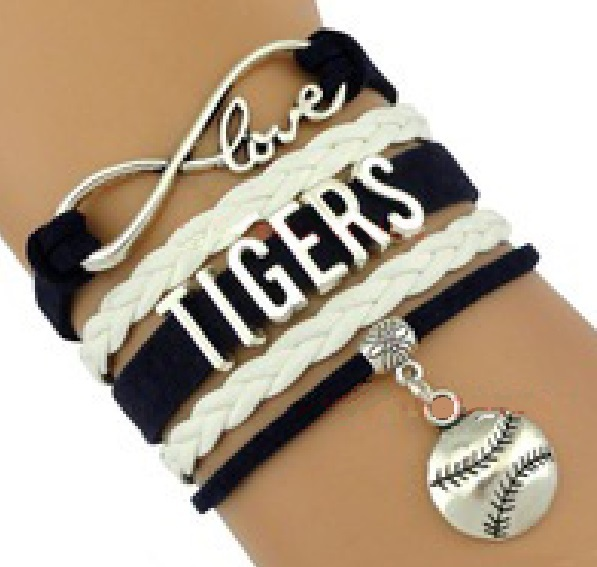 detroit tigers baseball fan shop infinity bracelet jewelry