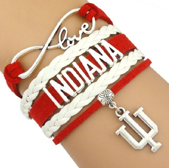 Indiana University Bloomington Hoosiers Fan Shop Infinity Bracelet Jewelry