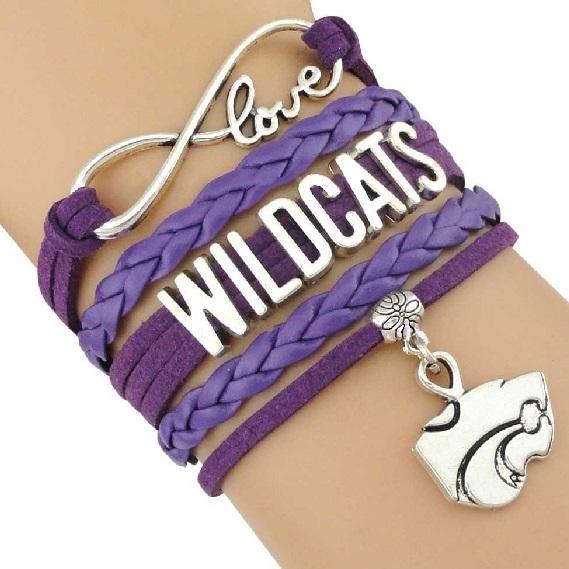 Kansas State University Wildcats Fan Shop Infinity Bracelet Jewelry