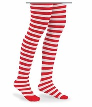 GIRLS Tights RED / WHITE STRIPED CHRISTMAS Hall... - $9.49