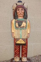 4' CIGAR STORE INDIAN w Mandella 4 ft Wooden Sculpture by Frank Gallagher - $949.00