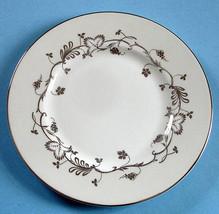 """Martha Stewart Flourish Ecru Salad/Dessert Plate 8"""" Made in England New - $13.90"""