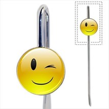 Winking Face Emoticon Emoji Bookmark - Book Lover Novelty Gifts - $12.41