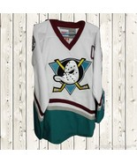 Charlie Conway Hockey Stitched Jersey The Mighty Ducks Movie #96 White S... - $45.49