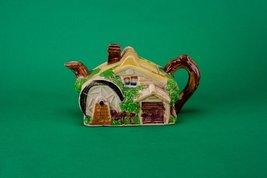 Beautiful Vintage Cottage TEAPOT Ceramic Service Art Deco Yellow Small C... - $59.39