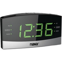 NAXA NRC-181 Bluetooth  Easy-Read Dual-Alarm Clock with Daily Repeat - $35.94