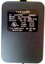 Tested TERAYON AC ADAPTOR Model AD-48101200D 10VDC 1200mA ITE Power Supply - $10.84
