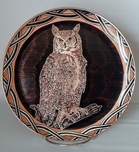 Silver Touch Owl Wall Plate Copper Engraved By ... - $31.35