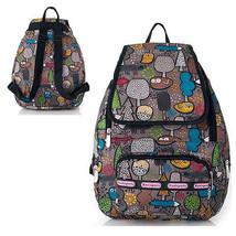 HOT SALE Pretty Pattern Backpack Womens School Bag Water Proof FOREST NIGHT - $17.33