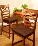 Dining Chair Seat Covers Set of 2 also Fits Bar Stool Seat Cover Set of 2 - $13.88