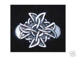 LOOK 0583 Sterling Silver Celtic Maltese Ring Jewelry Cross - $14.08