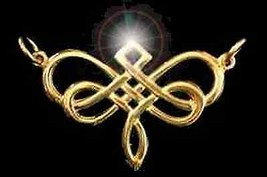 LOOK 0561 Gold Plated Dragonfly Celtic Infinity Knot Charm - $34.96