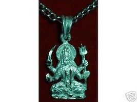 LOOK 0214 Hindu Santoshi Mata OM Sterling Silver Charm - $16.55