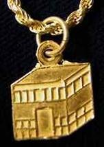 LOOK 0519 Kaaba Allah Islamic Silver charm Hajj Islam - $14.26