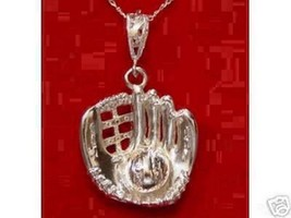 LOOK 0300 Baseball Catchers glove Pendant Charm Jewelry - $47.56