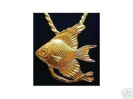 LOOK 0119 Gold Plated Fish Sterling Silver Charm Pendant - $15.14